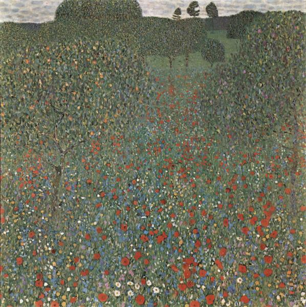 Poppy Field - Gustav Klimt