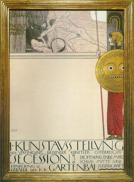 Poster for the First Art Exhibition of the Secession Art Movement, 1898 - Gustav Klimt