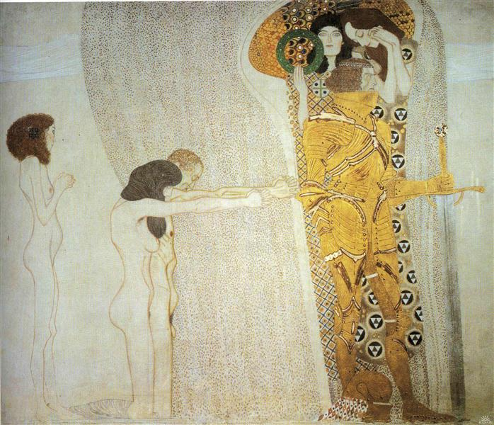 The Beethoven Frieze: The Longing for Happiness. Left wall, 1902 - Gustav Klimt