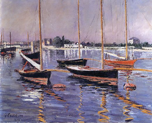 Boats on the Seine at Argenteuil, 1890 - Gustave Caillebotte