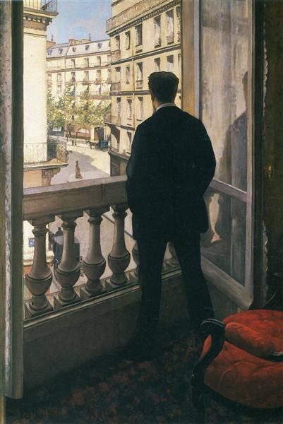 Man at the Window, 1875 - Gustave Caillebotte