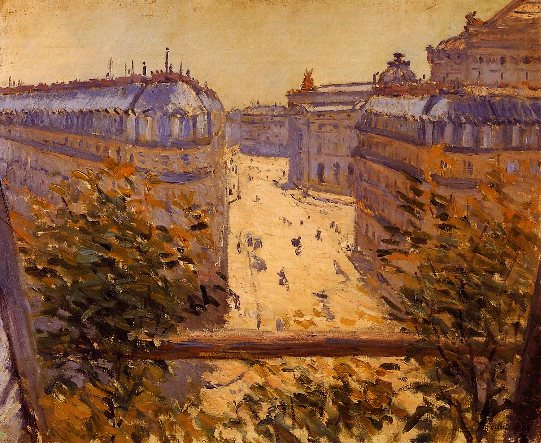 Art history news gustave caillebotte the painter 39 s eye for Balcony history
