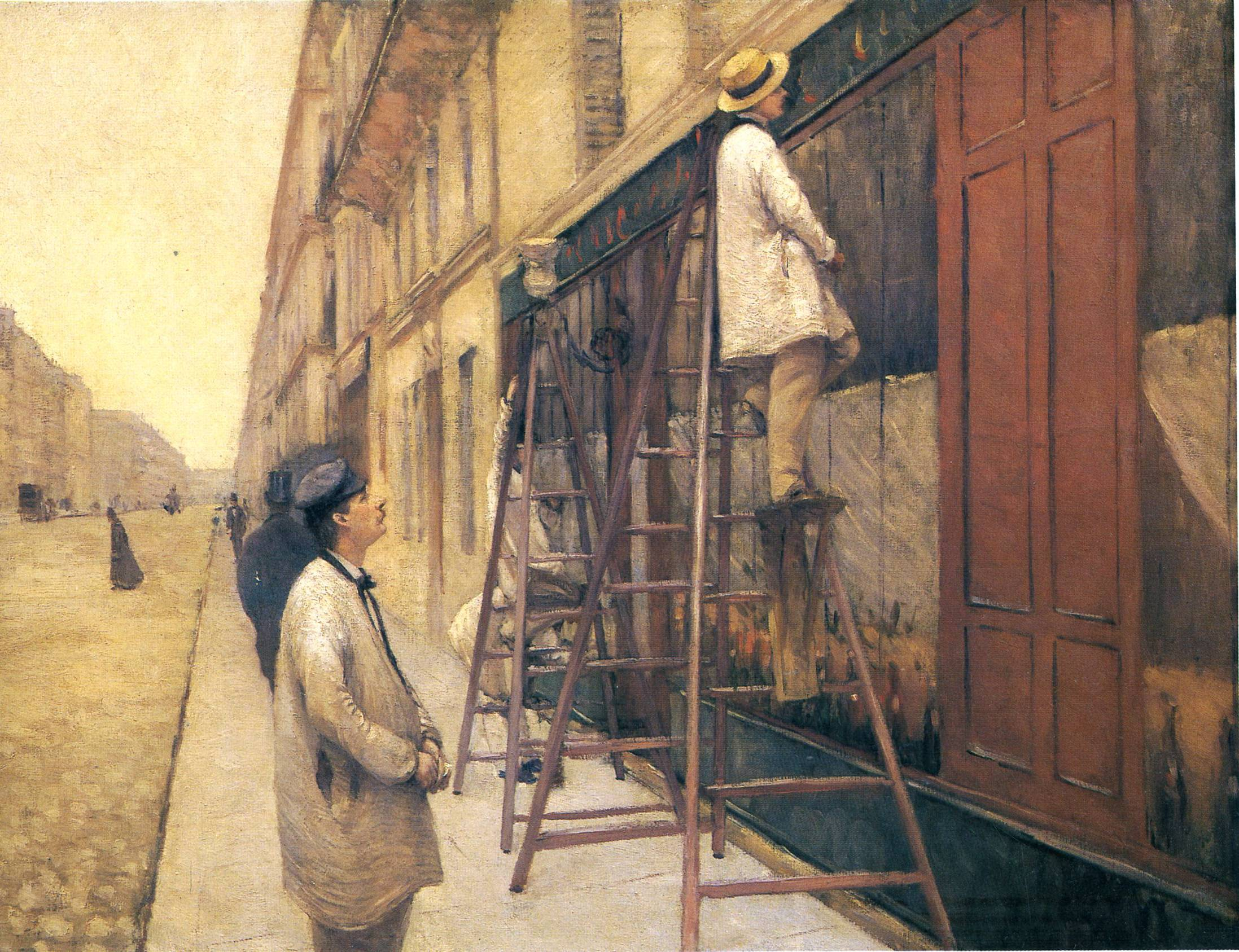 The house painters gustave caillebotte for Balcony meaning in english