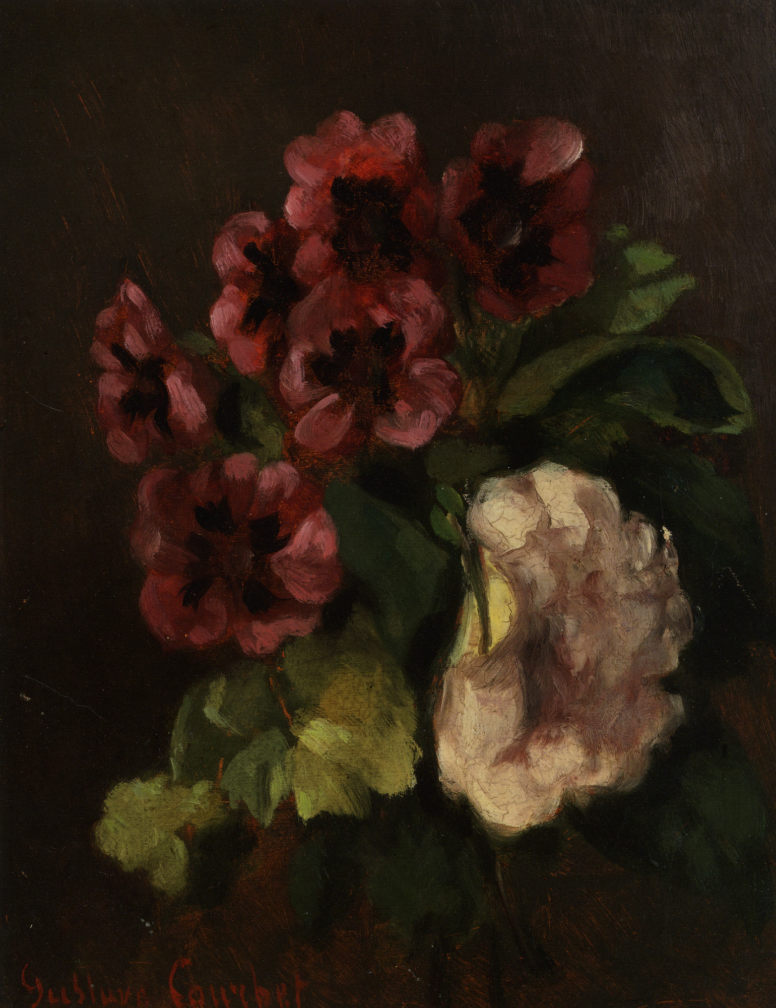 Bouquet Of Flowers Gustave Courbet