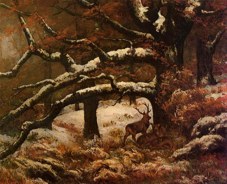 Deer Shelter, 1868 - Gustave Courbet