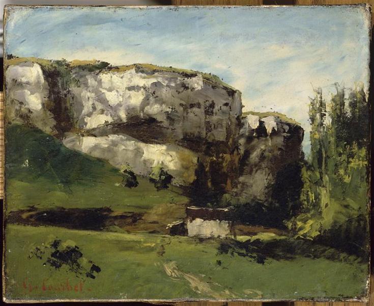 Landscape of Franche Comté - Gustave Courbet