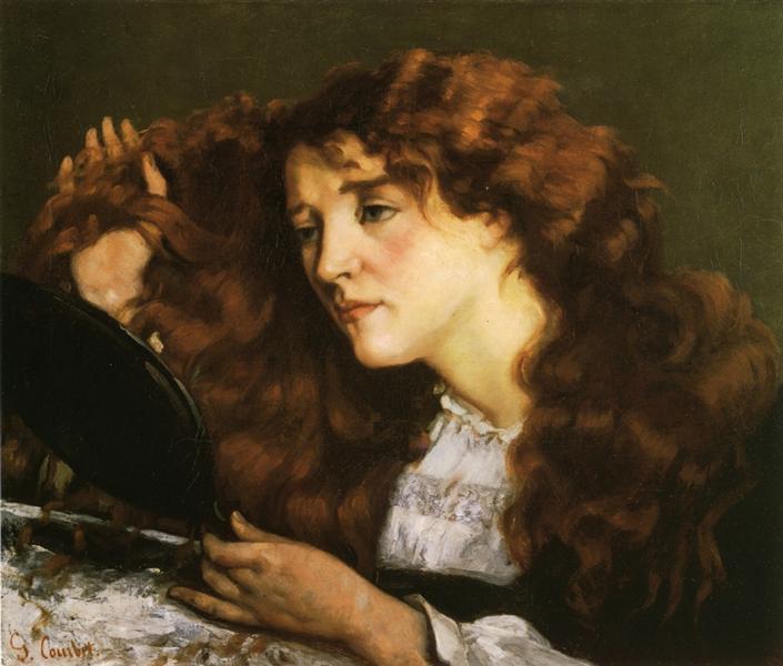 Портрет Ио, прекрасной ирландки, 1865 - Гюстав Курбе