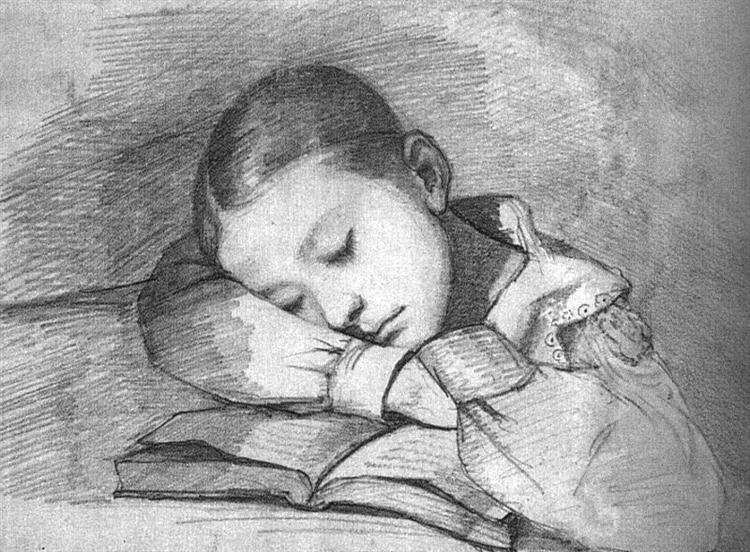 Portrait of Juliette Courbet as a Sleeping Child, 1841 - Gustave Courbet