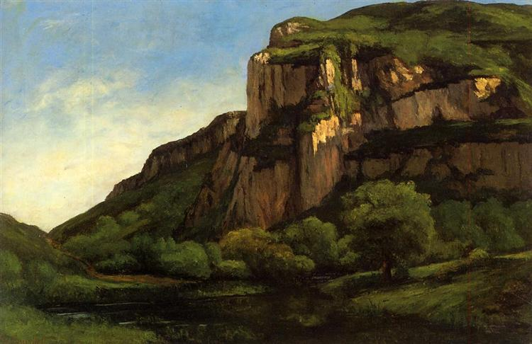 Rocks at Mouthier, c.1860 - c.1863 - Gustave Courbet