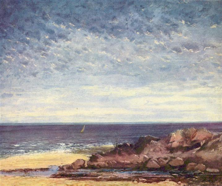 Sea Coast in Normandy, 1867 - Gustave Courbet