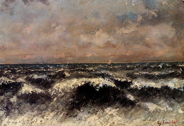 Seascape - Gustave Courbet