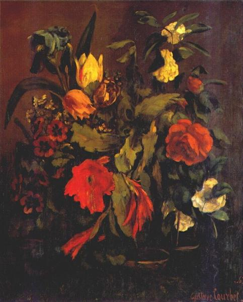 Still Life of Flowers, 1863 - Gustave Courbet