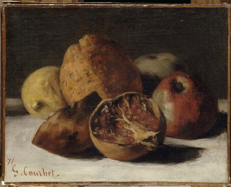Still Life with Apples and Pomegranates, 1871 - Gustave Courbet