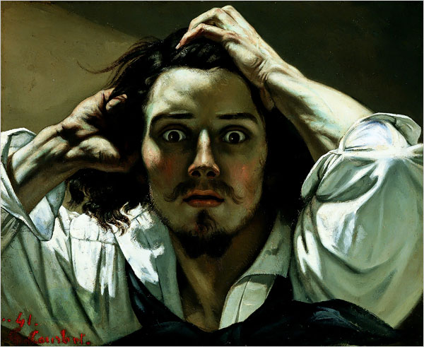 The Desperate Man Self Portrait Gustave Courbet Wikiart Org Encyclopedia Of Visual Arts