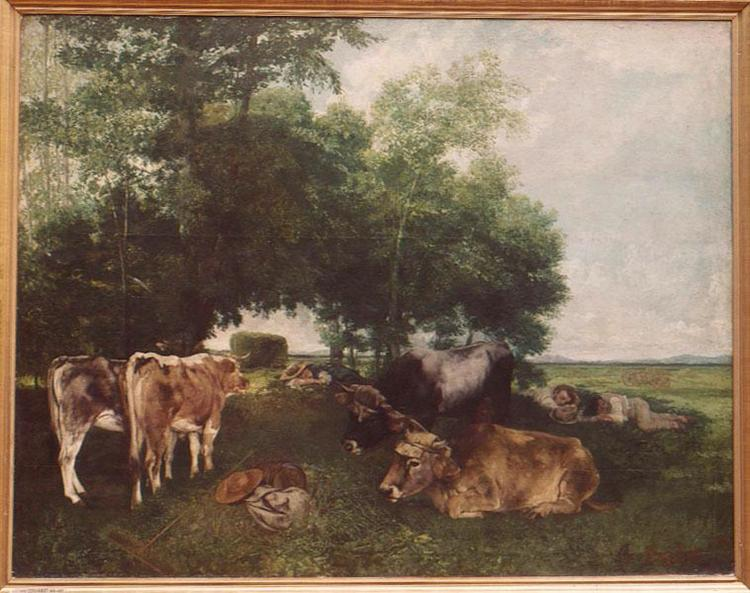 The Rest During the Harvest Season (Mountains of the Doubs), 1867 - Gustave Courbet