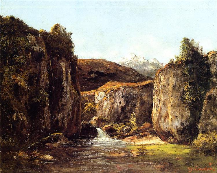 The Source among the Rocks of the Doubs, 1871 - Gustave Courbet