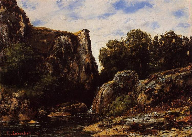 Waterfall in the Jura, 1876 - Gustave Courbet