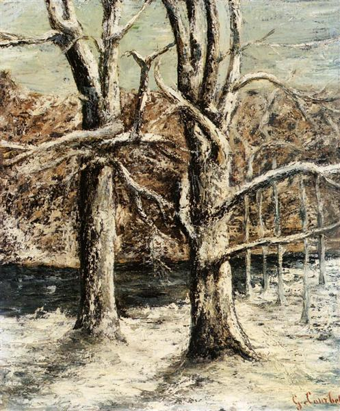 Woods in the Snow, c.1875 - Gustave Courbet