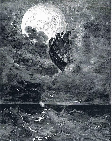 A Voyage to the Moon - Gustave Dore