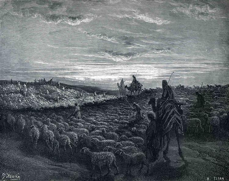 Abraham Journeying Into the Land of Canaan, 1866 - Gustave Dore