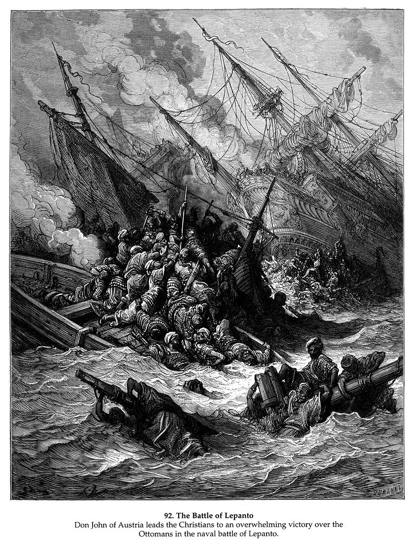 Battle of Lepanto 1571 Map Battle of Lepanto in 1571