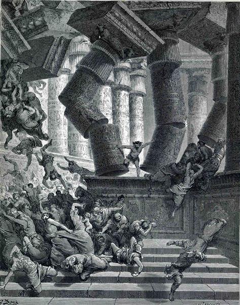 Death of Samson, 1866 - Gustave Dore