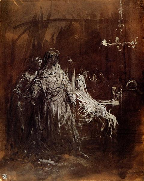Spectrum appearance of Banquo - Gustave Dore