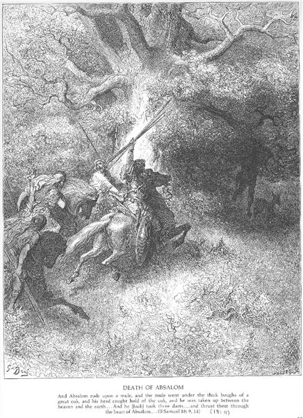 The Death of Absalom - Dore Gustave