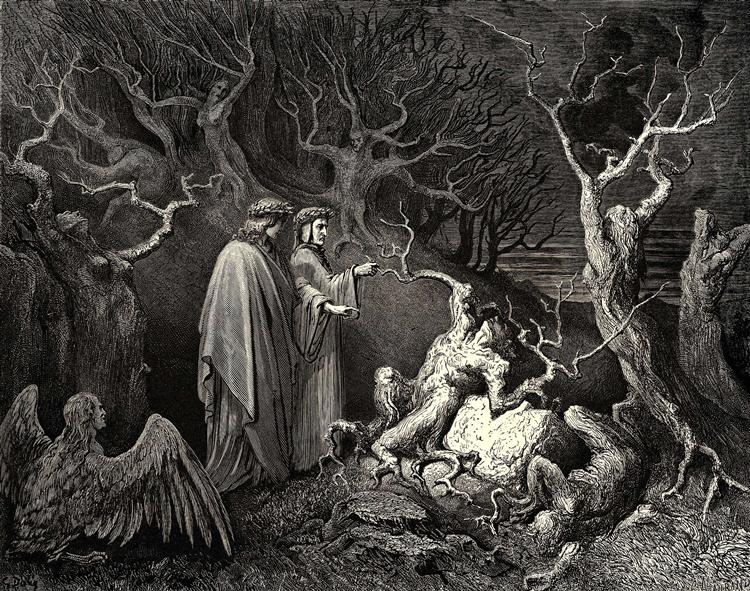 The Inferno, Canto 13 - Gustave Dore