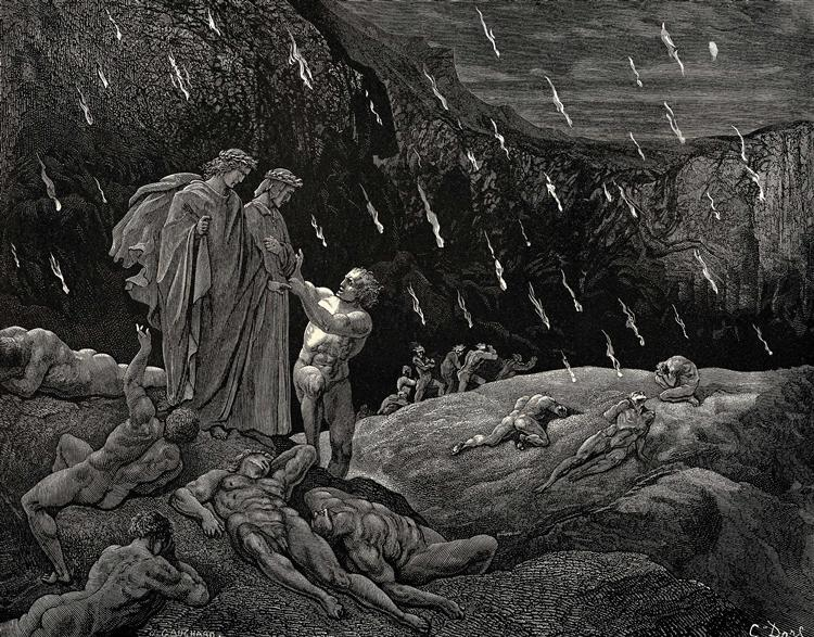 The Inferno, Canto 15 - Gustave Dore