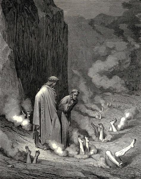 The Inferno, Canto 19 - Gustave Dore