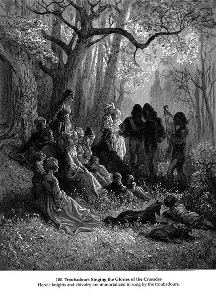 Troubadours Singing the Glories of the Crusades - Gustave Dore