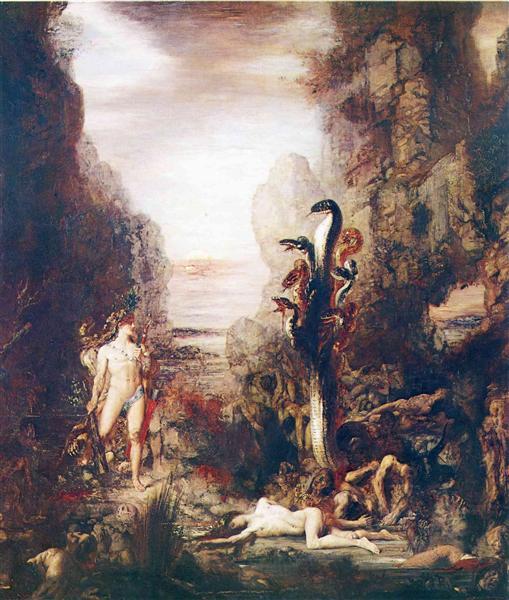 Hercules and the Hydra Lernaean, 1876 - Gustave Moreau