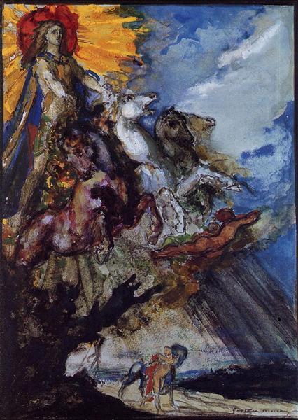 Phoebus and Boreas, c.1879 - Gustave Moreau