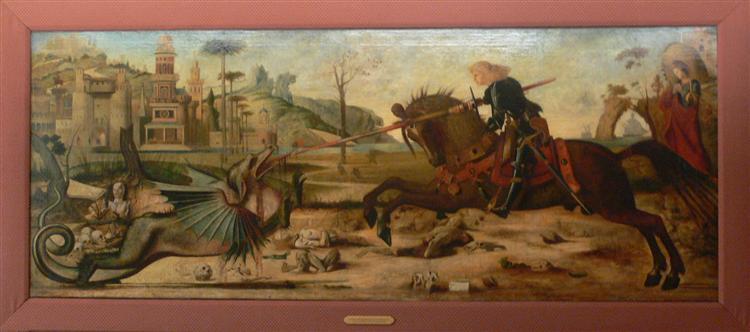 Saint George, after Vittore Carpaccio - Moreau Gustave