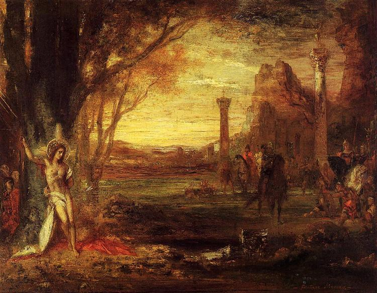 Saint Sebastian and His Executioners, c.1870 - Gustave Moreau