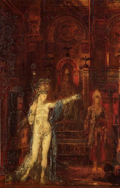 Salome dancing before Herod, c.1875 - Gustave Moreau