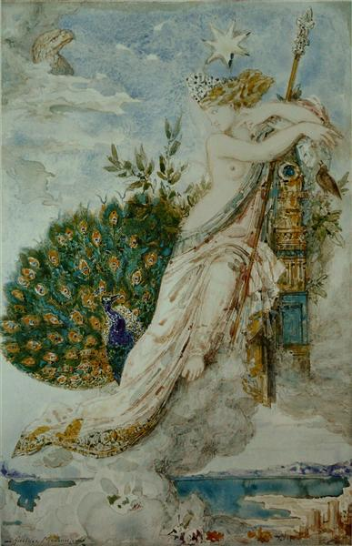 The Peacock complaining to Juno, 1881 - Gustave Moreau