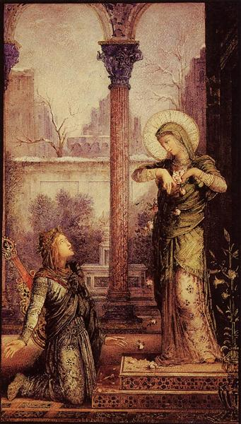 The Poet and the Saint, 1868 - Gustave Moreau