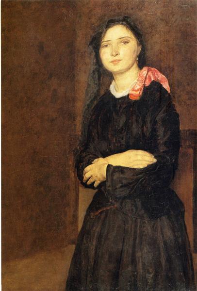 New Britain Public Schools >> Dorelia in a Black Dres, c.1903 - c.1904 - Gwen John - WikiArt.org