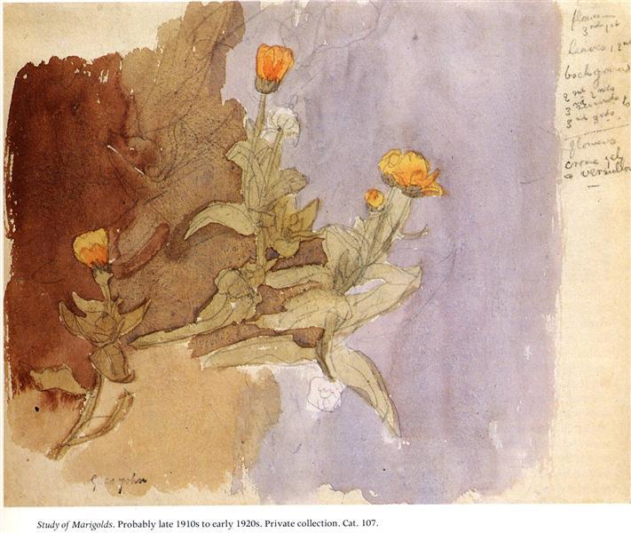 Study of Marigolds, 1918 - Gwen John