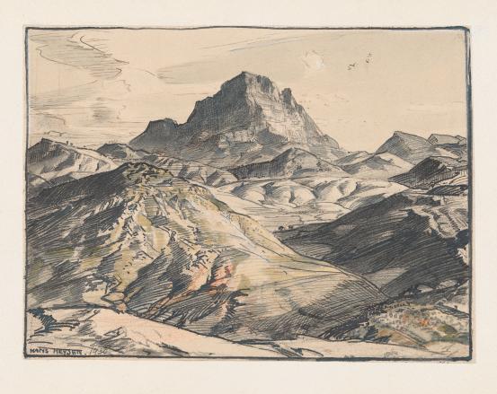 Study for Land of Oratunga, 1930 - Hans Heysen