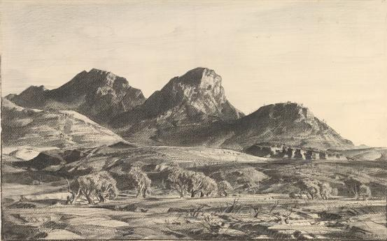 The Yappala Range, 1940 - Hans Heysen