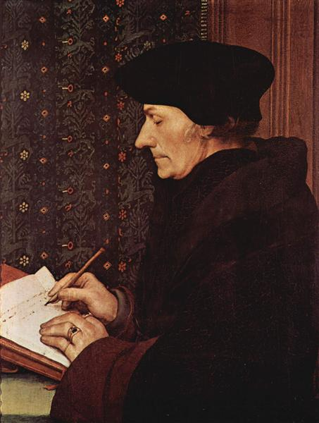 Portrait of Desiderius Erasmus, 1523 - Hans Holbein the Younger