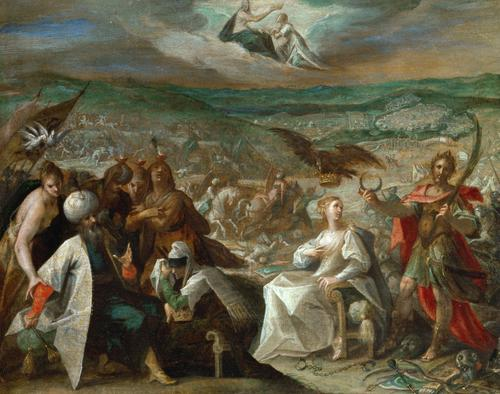 Allegory on the conquest of Stuhlweißenburg (Székesfehérvár), 1604