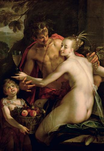 Bacchus, Ceres and Amor, 1600