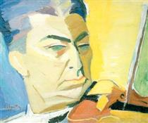 Portrait of the Violinist A. Gabrielian - Haroutiun Galentz