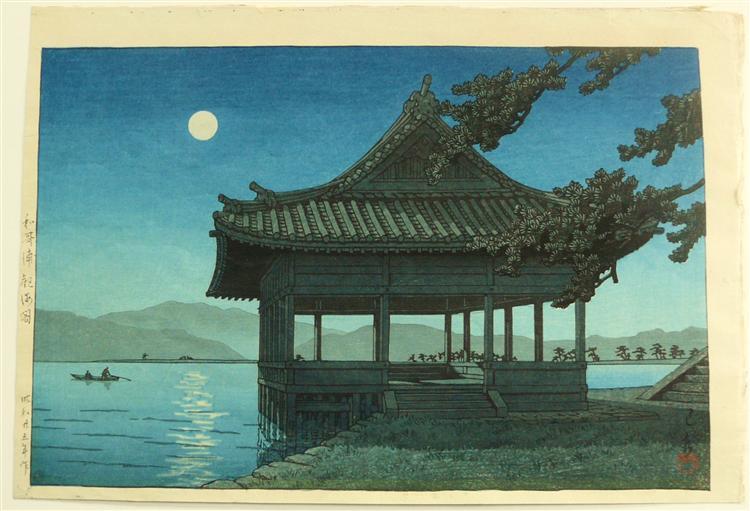 Kankai Pavillion at Wakaura Beach, 1950 - Hasui Kawase