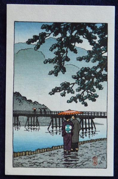 Light Rain at Arishiyama, 1939 - Hasui Kawase