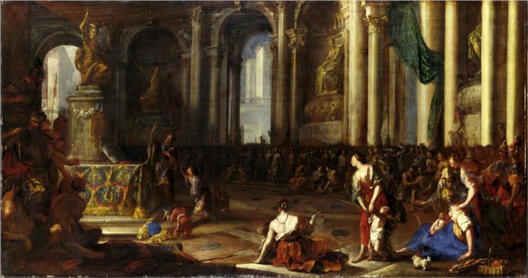 Hannibal schwört den Römern ewige Feindschaft, 1660 - Heinrich Schonfeld